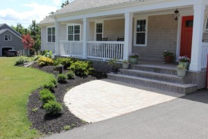 Garden and paverstone