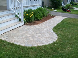 PEI landscaping services include stone walkways